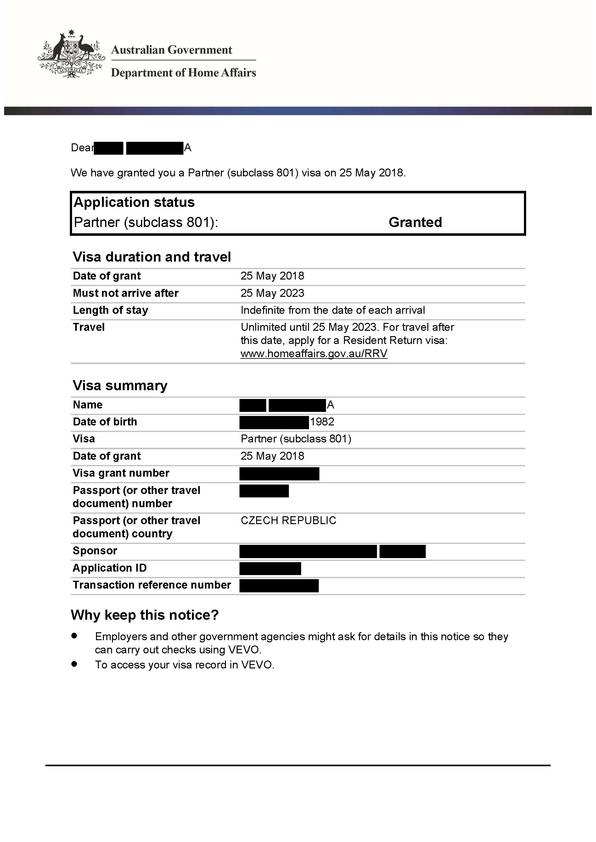 IMMI Grant Notification 801 Mel_Redacted